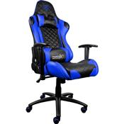 Cadeira Gamer Inclinável Até 150Kg Preta E Azul Tgc12 Thunderx3