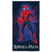 Toalha De Banho Infantil Spider Man 70 X 140Cm Azul Marinho Lepper