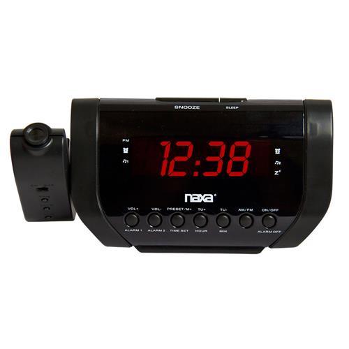 0ce00b81c3e Rádio Relógio Digital AM FM Com Projetor De Horas NRC-173 Preto Naxa ...