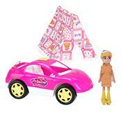 Carrinho E Acampamento Princesa Beauy Girls Rosa 3086 Homeplay