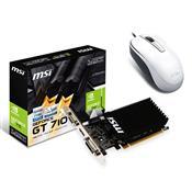 Placa De Vídeo Geforce Gt710 1Gb Ddr3 64 Bits E Mouse 1200Dpi 912-V809-2022 Msi