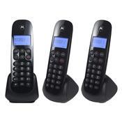 Telefone Sem Fio Digital Com 2 Ramais Preto Moto700-Mdr3 Motorola