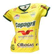 Camisa Baby Look Oficial Copagril Futsal 2018 Amarela