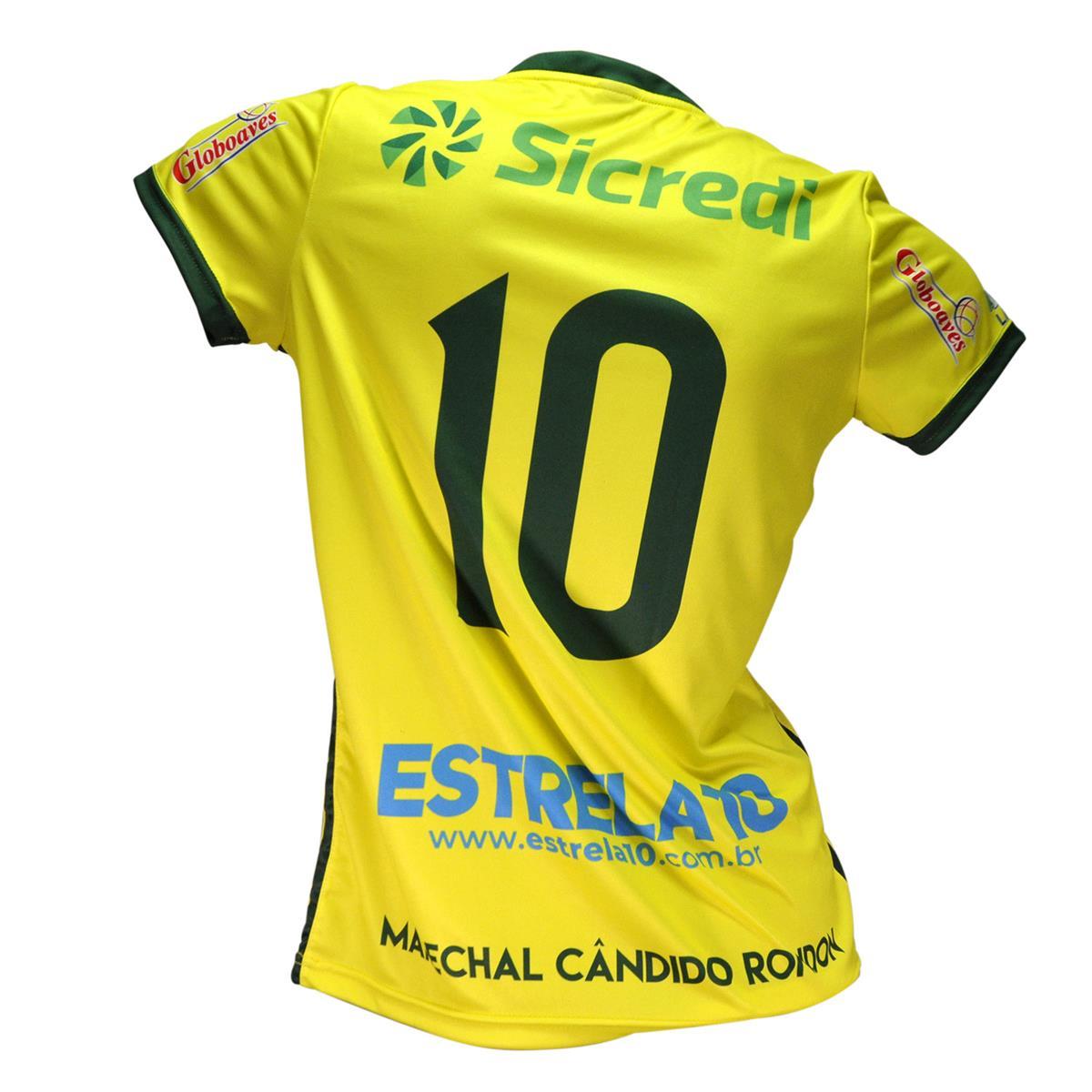 Camisa Baby Look Oficial Copagril Futsal 2018 Amarela na Estrela10 5eedc20aa8ed6