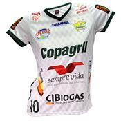 Camisa Baby Look Oficial Copagril Futsal 2018 Branca