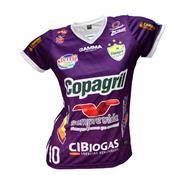 Camisa Baby Look Oficial Copagril Futsal 2018 Grena