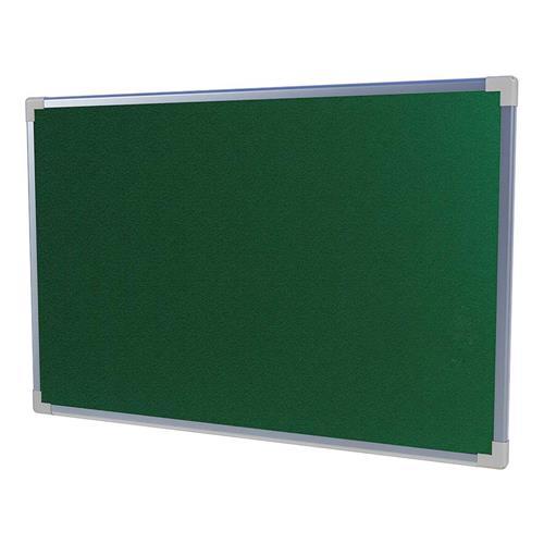 Quadro De Aviso Neo Moldura Alumínio 200X120 Cm Feltro Verde Stalo