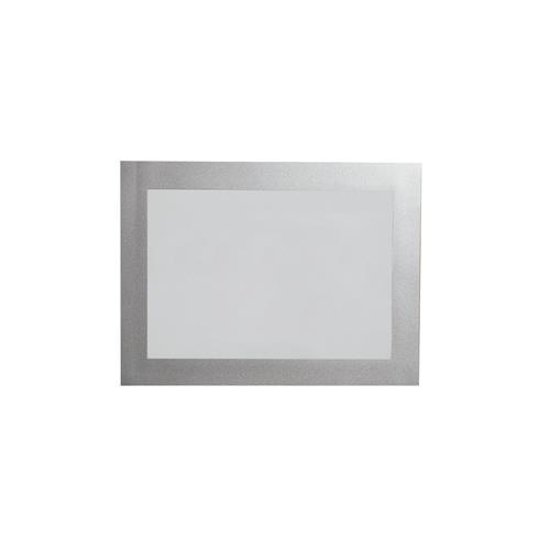 Painel De Informação Duraframe Durable A6 Moldura Prata Stalo