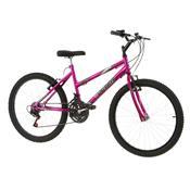 Bicicleta Feminina Pink Aro 24 Chrome Line Pro Tork Ultra