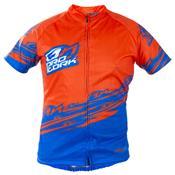 Camisa Para Ciclismo Adulta Bike Line Laranja E Azul Ultra Bikes