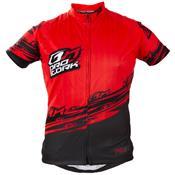 Camisa Para Ciclismo Adulta Bike Line Vermelha E Preta Ultra Bikes