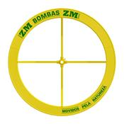 Roda De Água Para Bomba 1.00 X 0.25M Amarela Zm Bombas