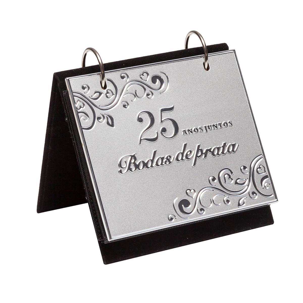 Porta Retrato Com álbum Bodas De Prata Para 72 Fotos 10x15cm
