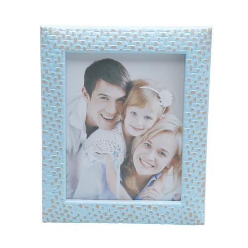 Porta Retrato De Plástico Para Foto 20X25cm Wall Azul Prestige