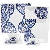 Aparelho De Jantar 42 Peças Porcelana Cashemere Gm42-2460 Oxford