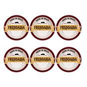 Conjunto 6 Pratos Fundos 23Cm Feijoada Premium Daily Oxford
