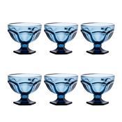 Jogo 6 Taças De Vidro Azul 260Ml Borboleta Bon Gourmet
