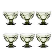Jogo 6 Taças De Vidro Verde 260Ml Borboleta Bon Gourmet