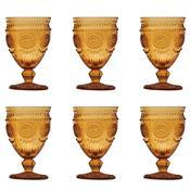 Jogo 6 Taças Vidro Para Vinho 270Ml Âmbar Aubusson Bon Gourmet