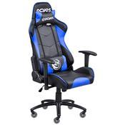 Cadeira Gamer Mad Racer V8 Azul Rodas Em Gel Madv8azgl Pcyes