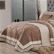 Edredom Solteiro Plumasul Soft Comfort 160X220cm Microfibra Café