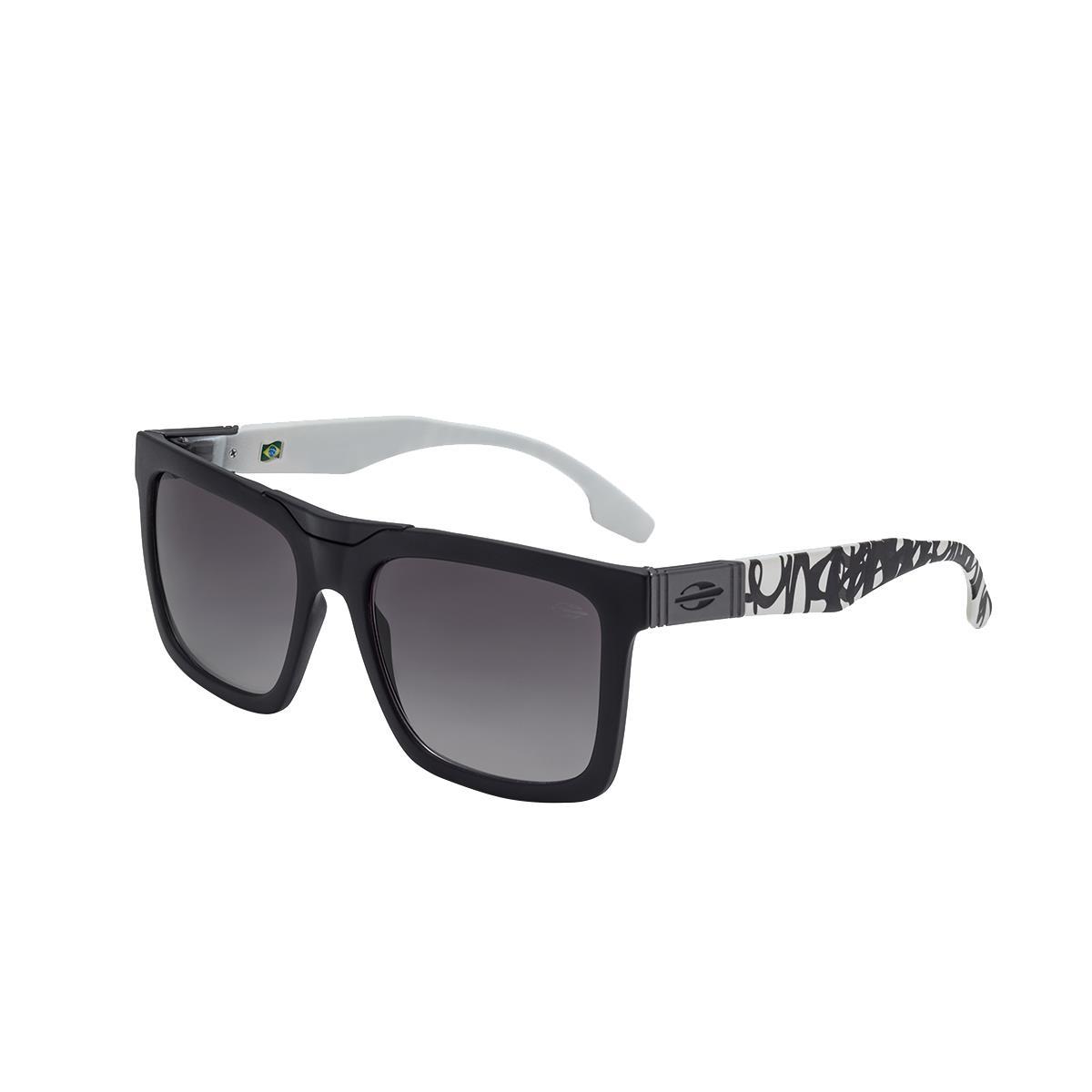1da5e0f55a475 Óculos De Sol Long Beach Preto E Branco Lente Básica Cinza Mormaii na  Estrela10