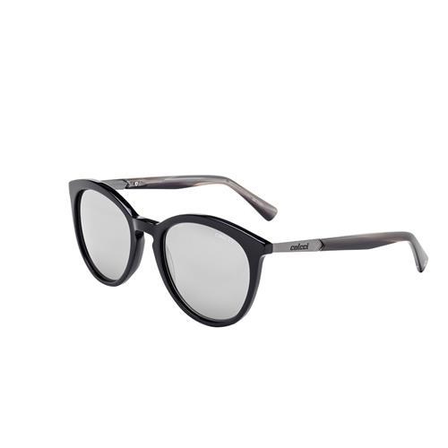 Óculos De Sol Preto Brilho Lente Cinza C0110a3009 Colcci