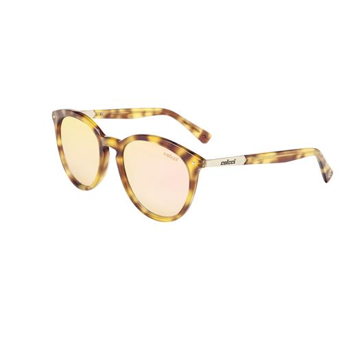 Óculos De Sol Demi Amarelo Brilho Lente Rose C0110f4146 Colcci