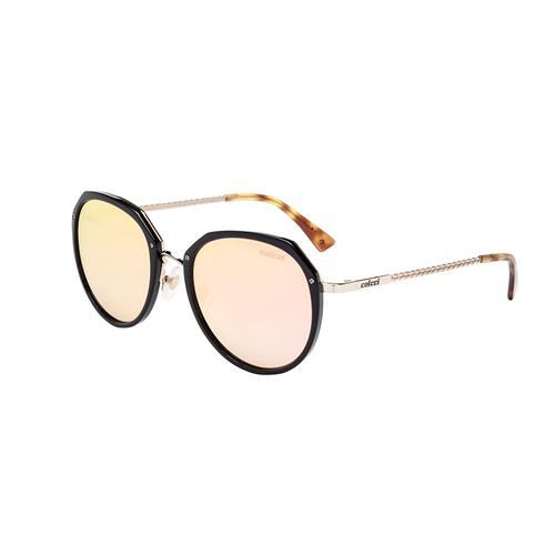 Óculos De Sol Preto Brilho Lente Rose C0111a3146 Colcci