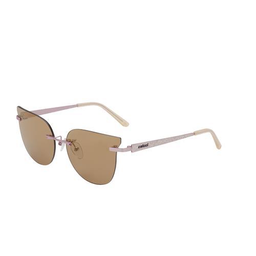 Óculos De Sol Rosa Acetinado Lente Marrom C011658381 Colcci