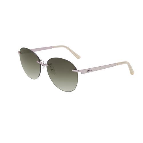 Óculos De Sol Rosa Acetinado Lente Marrom C011758334 Colcci