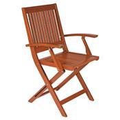 Cadeira Dobrável Tramontina 10872/076 Fitt Madeira Marrom