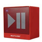 Caixa De Som Bluetooth Portátil Multilaser SP279 8W Rms Vermelha
