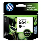 Cartucho De Tinta HP 664XL F6V31AB Ink Advantage 8.5 ML Preto