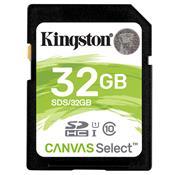 Cartão De Memória Sd Kingston Canvas Select Classe 10 32Gb Sds/32Gb
