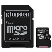 Cartão De Memória Micro Sd Kingston Sdxc/128Gb Classe10 128Gb