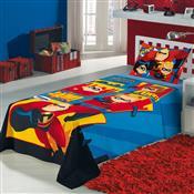Jogo De Cama Infantil Solteiro Lepper 3 Peças Os Incríveis Azul