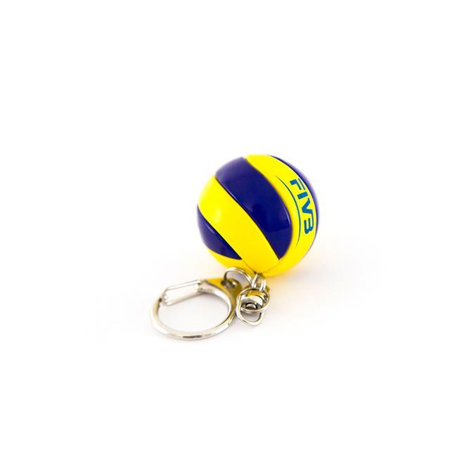 2642cdc309 Chaveiro Bola De Voleibol Mikasa Kva Azul E Amarelo na Estrela10