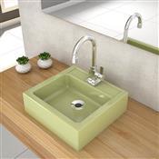 Cuba De Apoio Para Banheiro Compace Julia Q35w Quadrada Verde Acqua
