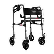 Andador Ortopédico Mercur BC1550 Dobrável Com Rodas E Assento Cinza