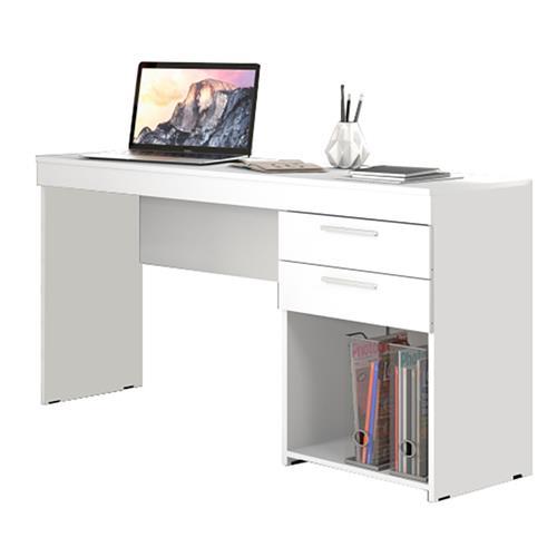 Menor preço em Mesa Para Computador Notável Office 2 Gavetas Branco New