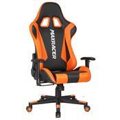 Cadeira Gamer Max Racer Skilled Reclinável Preto/Laranja