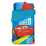 Coberdrom Fleece Infantil Lepper Carros Dupla Face Estampado Azul