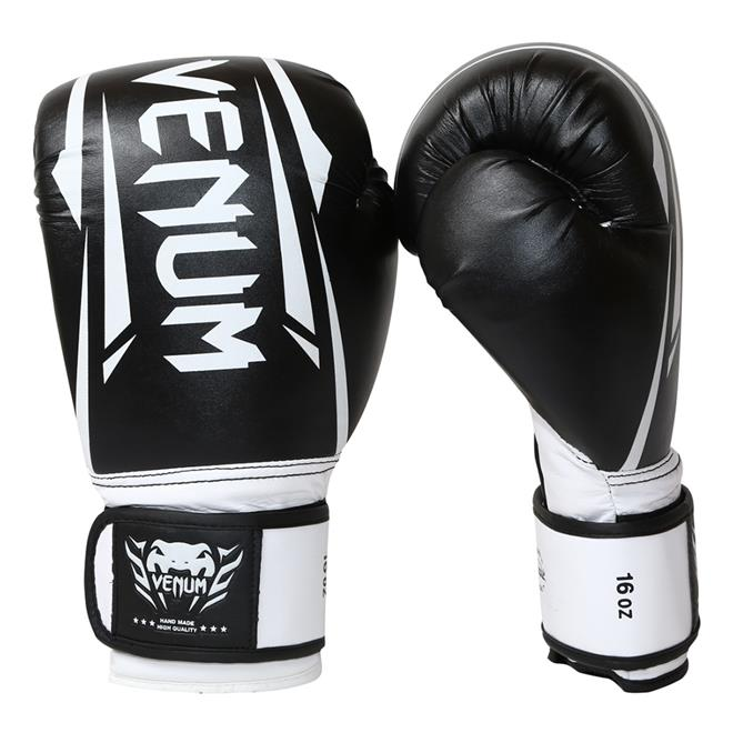 eedadee6d7 Luvas De Boxe E Muay Thai Venum New Elite Preta E Branca na Estrela10