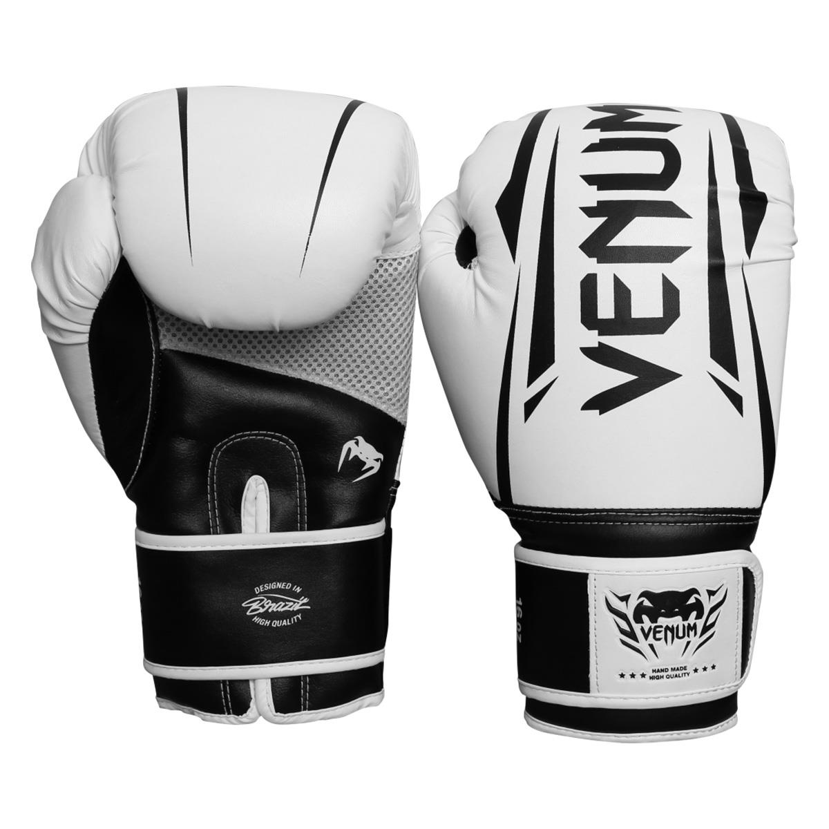 a1f0ec54f2 Luvas De Boxe E Muay Thai Venum New Elite Branca na Estrela10