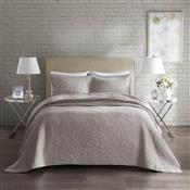 Colcha King Corttex Florence Home Design 3 Peças Anita Taupe