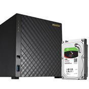 Sistema De Backup Disco Integrado Asustor As1004t6000 Marvell 512Mb Torre 6Tb