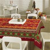 Toalha Mesa Retangular Lepper Natal Impermeável 6 Lugares Vermelha