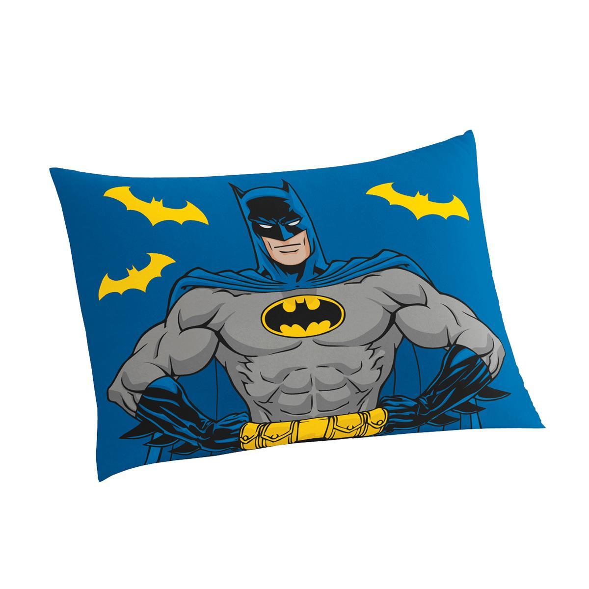 5a1800697a Jogo De Cama Solteiro Lepper Batman Estampado 3 Peças Azul na Estrela10