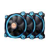 Kit 3 Coolers Fan Thermaltake CL-F055-PL12BU-A Tt Riing 120mm Led Azul
